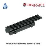 UTG Adaptor Rail 11mm to 21mm - 9 slots