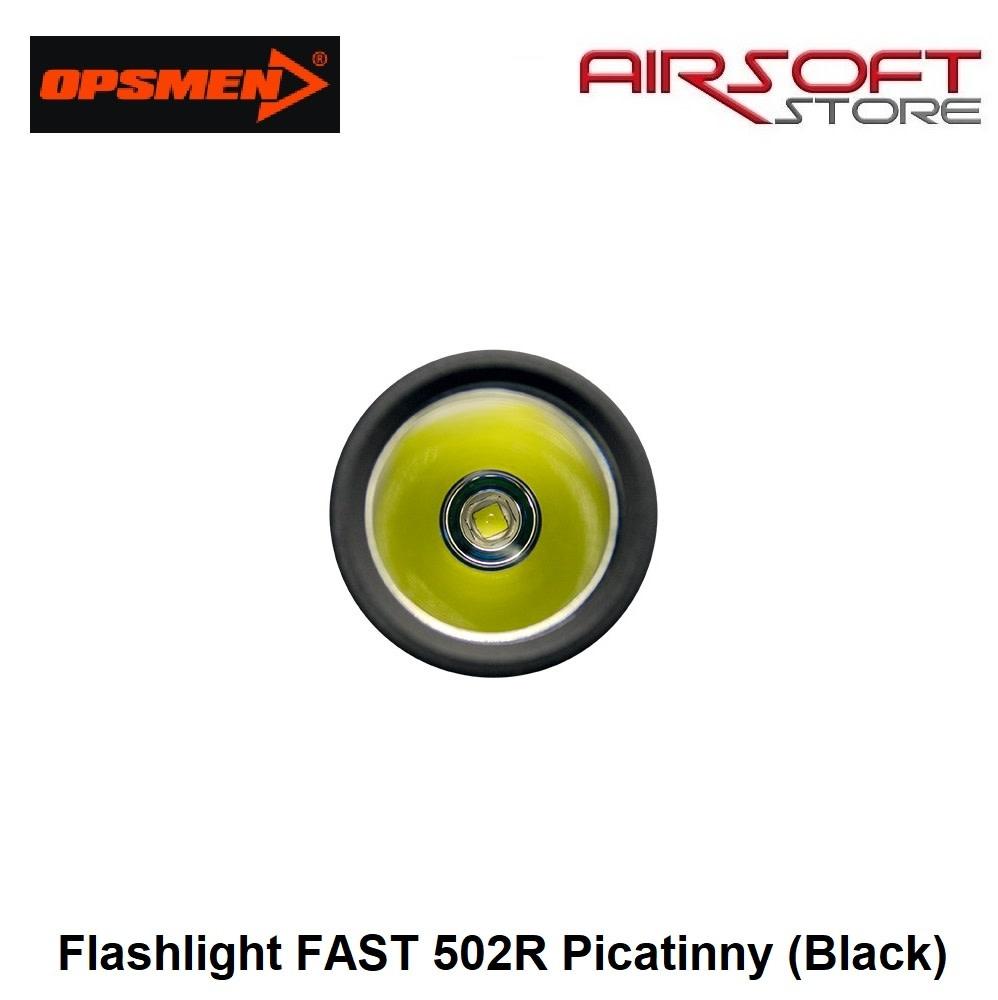 OPSMEN Flashlight FAST 502R Picatinny (Black)