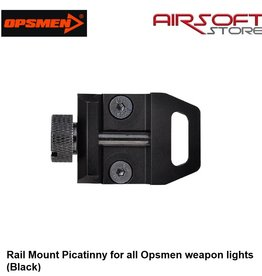 OPSMEN Rail Mount Picatinny for all Opsmen weapon lights (Black)