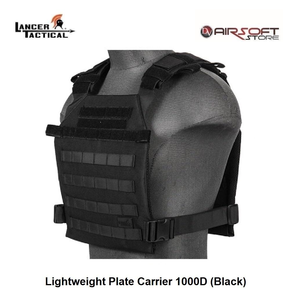 Lancer Tactical Lightweight Plate Carrier 1000D (Black)