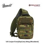 Brandit US Cooper EveryDayCarry Sling (Woodland)