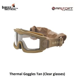 Lancer Tactical Thermal Goggles Tan (Clear glasses)