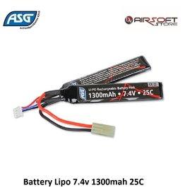 ASG Battery Lipo 7.4v 1300mah 25C