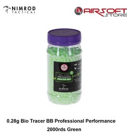 Nimrod 0.28g Bio Tracer BB Professional Performance 2000rds Green