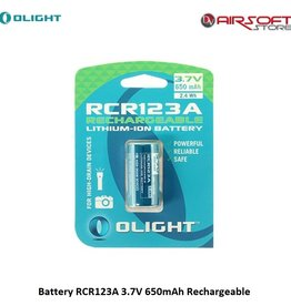 Olight Battery RCR123A 3.7V 650mAh Rechargeable