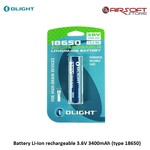 Olight Battery Li-Ion rechargeable 3.6V 3400mAh (type 18650)