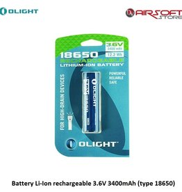 Olight Battery Li-Ion rechargeable 3.6V 3400mAh (type 18650)