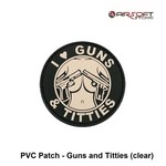 PVC Patch - Guns and Titties (clear)