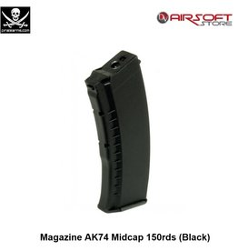 PIRATE ARMS Magazine AK74 Midcap 150rds (Black)
