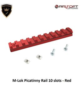Royal Armory M-Lok Picatinny Rail 10 slots - Red