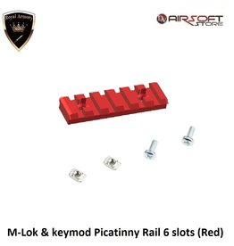Royal Armory M-Lok & keymod Picatinny Rail 6 slots (Red)