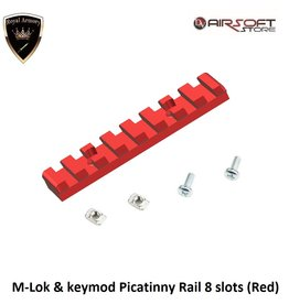 Royal Armory M-Lok & keymod Picatinny Rail 8 slots (Red)