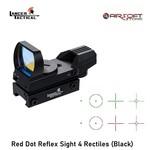Lancer Tactical Red Dot Reflex Sight 4 Rectiles (Black)