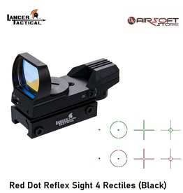 Lancer Tactical Red Dot Reflex Sight 4 Rectiles (Black)
