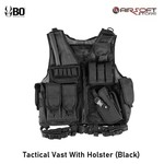 BO Tactical Vest With Holster (Black)