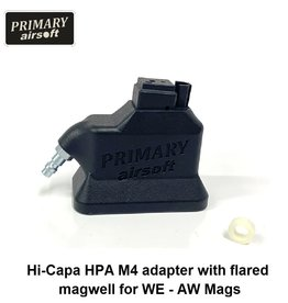 Primary Airsoft Hi-Capa HPA M4 adapter with flared magwell for WE - AW Mags