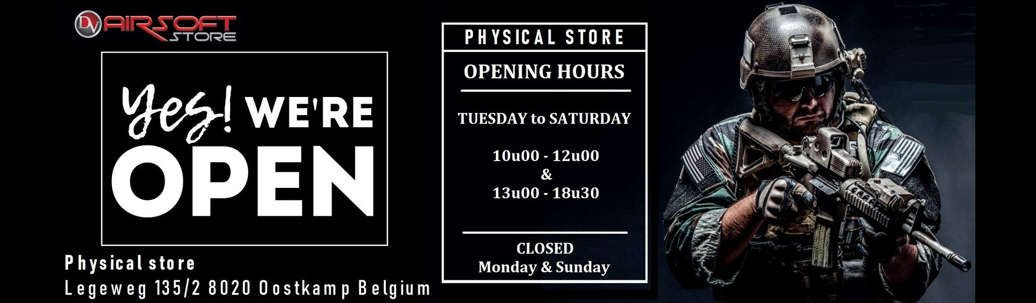 Airsoft Store opening hours
