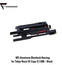 CowCow B01 Aluminum Blowback Housing for Tokyo Marui Hi-Capa 5.1 GBB - Black
