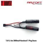 Titan 7.4V Li-Ion 3000maH Nunchuck T-Plug Deans