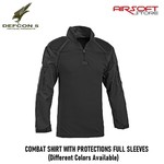 DEFCON 5 COMBAT SHIRT WITH PROTECTIONS FULL SLEEVES (Black)