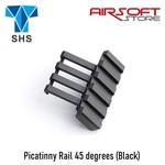 SHS Picatinny Rail 45 degrees (Black)