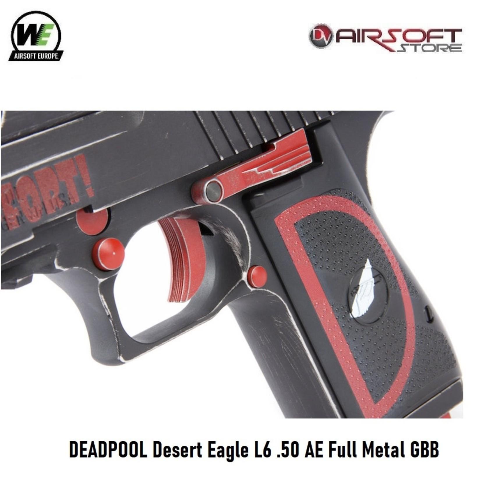 WE (Wei Tech) DEADPOOL Desert Eagle L6 .50 AE Full Metal GBB