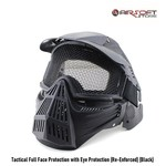 Tactical Full Face Protection with Eye Protection (Re-Enforced) (Black)
