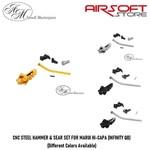 Airsoft Masterpiece CNC STEEL HAMMER & SEAR SET FOR MARUI HI-CAPA (INFINITY QB)
