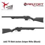 Action Army AAC T11 Bolt Action Sniper Rifle (Black)