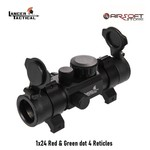 Lancer Tactical 1x24 Red & Green dot 4 Reticles