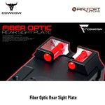CowCow Fiber Optic Rear Sight Plate