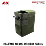 A&K MK43/ M60 AEG LMG AMMO BOX MAGAZINE 2500rds
