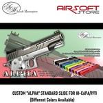 "Airsoft Masterpiece CUSTOM ""ALPHA"" STANDARD SLIDE FOR HI-CAPA/1911"
