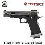 WE (Wei Tech) Hi-Capa 5.1 Force Full Metal GBB (Silver)