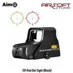 Aim-O 551 Red Dot Sight (Black)