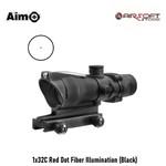 Aim-O 1x32C Red Dot Fiber Illumination (Black)