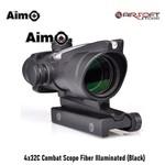 Aim-O 4x32C Combat Scope Fiber Illuminated (Black)