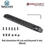 Rail Aluminium M-Lok and Keymod 11 slot (Black)