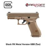 Glock 19X Metal Version GBB (Tan)