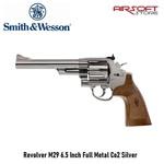Smith & Wesson Revolver M29 6.5 Inch Full Metal Co2 Silver