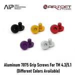 AIP Aluminum 7075 Grip Screws For TM 4.3/5.1