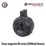 G&G Drum magazine RK series (2200rds) Manual