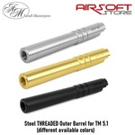 Airsoft Masterpiece Steel THREADED Outer Barrel for TM 5.1