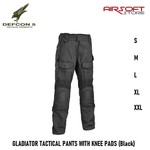 DEFCON 5 GLADIATOR TACTICAL PANTS WITH KNEE PADS (Black)