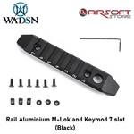 Rail Aluminium M-Lok and Keymod 7 slot (Black)