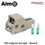 Aim-O 553 red/green dot sight - (Desert)
