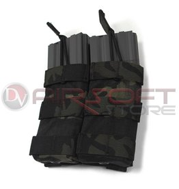 EMERSON Double Open Top  5.56 Mag Pouch - MC Black