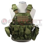 EMERSON Plate Carrier LBT style w 3 pouches - AT-FG