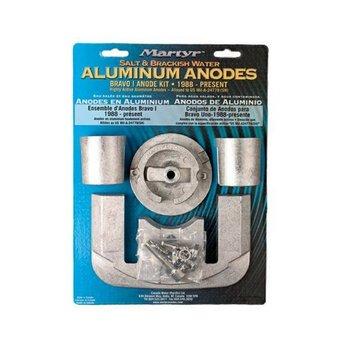 Martyr Anodes Mercruiser Anode Kit, Bravo 1, Aluminium