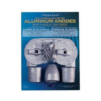 Martyr Anodes Mercruiser Anode Kit, Bravo 3, Aluminium